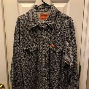 Wrangler FR pearl snap shirt